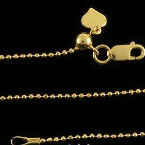 Diamond cut beaded bolo chain 24 inch